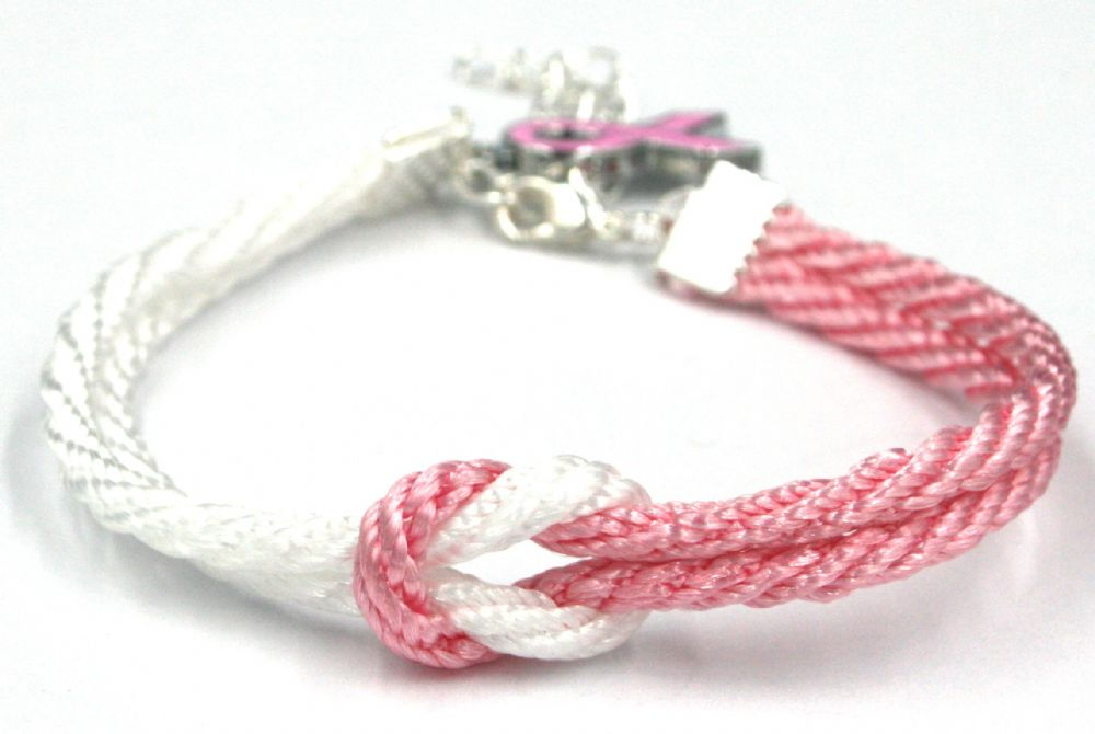 10 X Unity Bracelet For Breast Cancer Awareness 3mm Cord